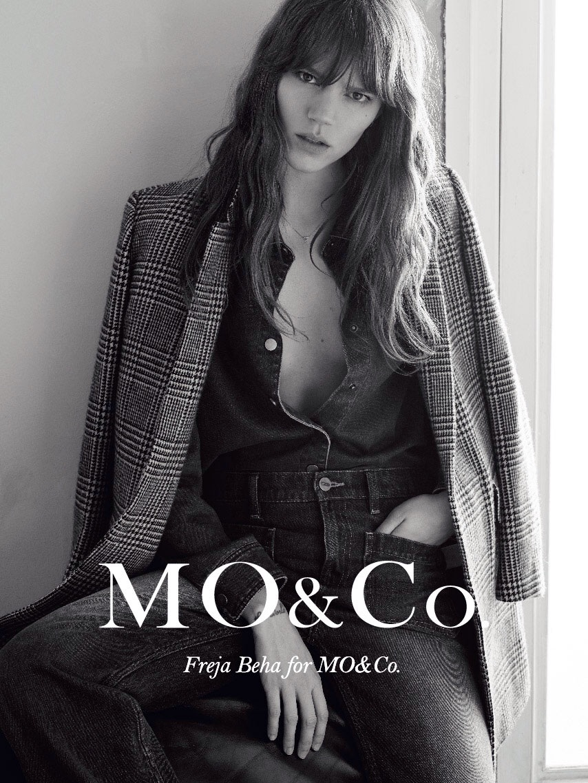 Freja Beha Erichsen for Mo&Co 2015 by Karim Sadli |  Source