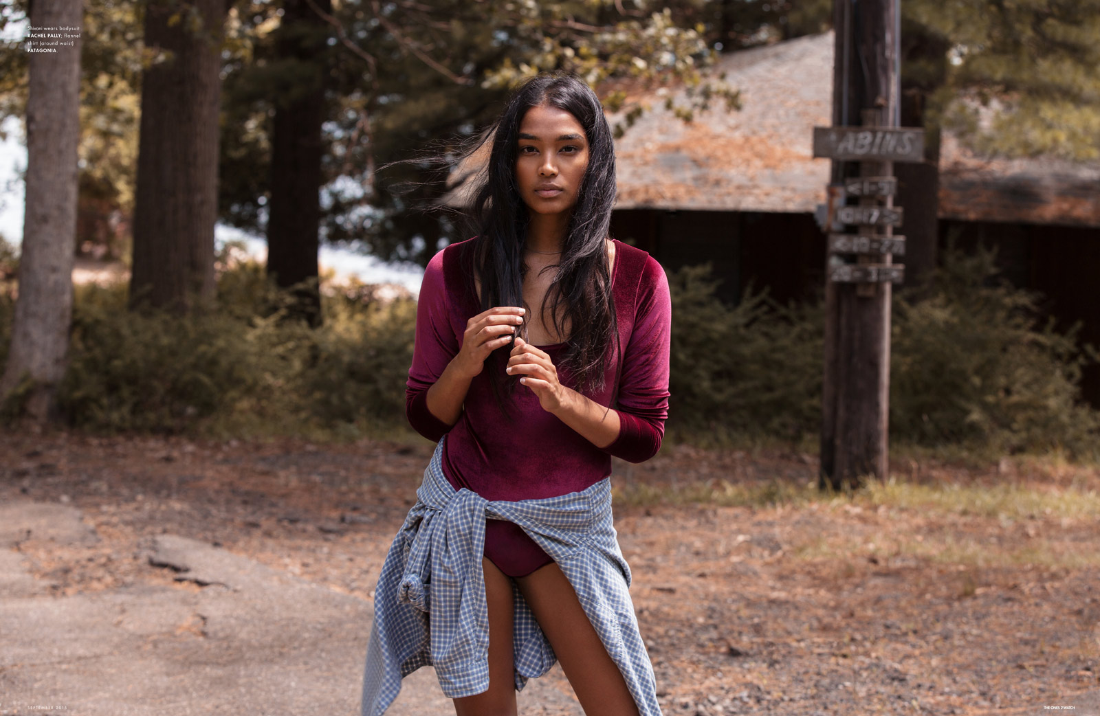 Shivani, shot by Lee O'Connor, styled by Bettina Bati, hair by Bennett Grey, makeup by Shawnte Alexander