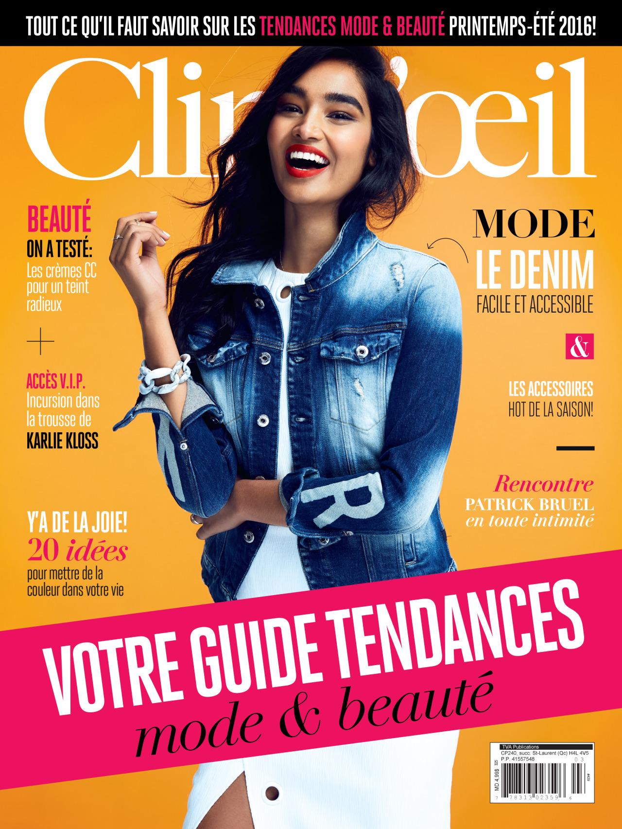 Shivani covering   Clin D'Oeil  magazine ( Source )