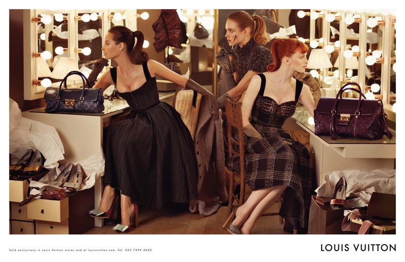 Christy Turlington, Natalia Vodianova (DNA), and Karen Elson (The Lions) for Louis Vuitton Fall 2010 by Steven Meisel