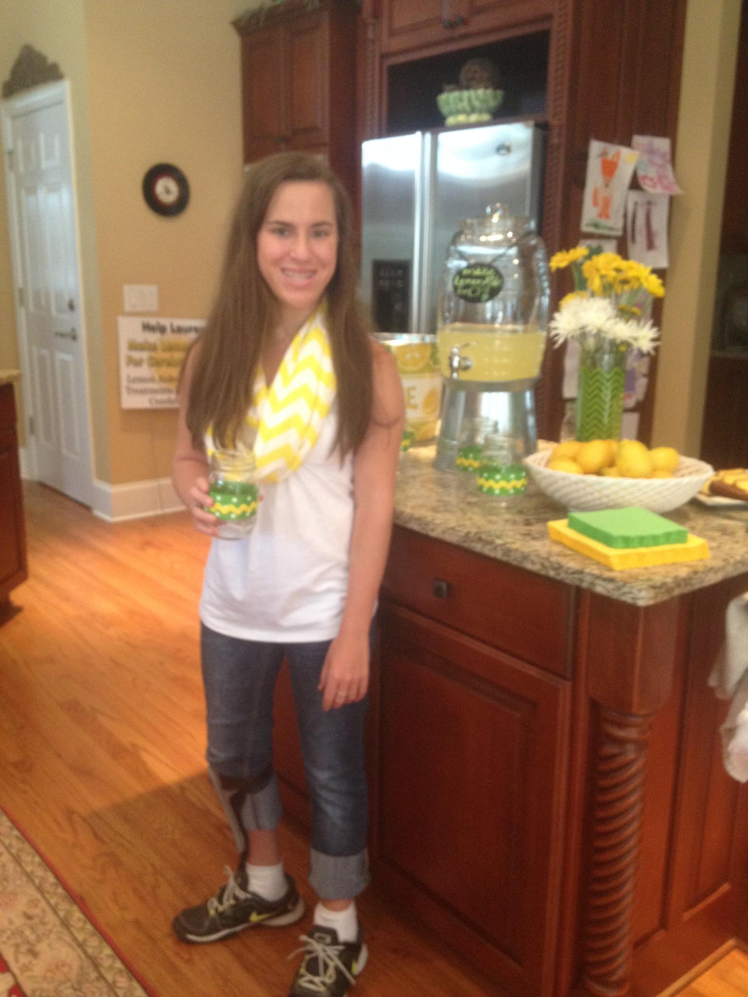 Lauren gearing up to make LemonAide!