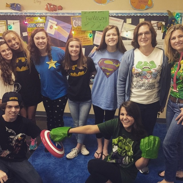 Instead of a dress down day, try dressing up as your favorite super hero!