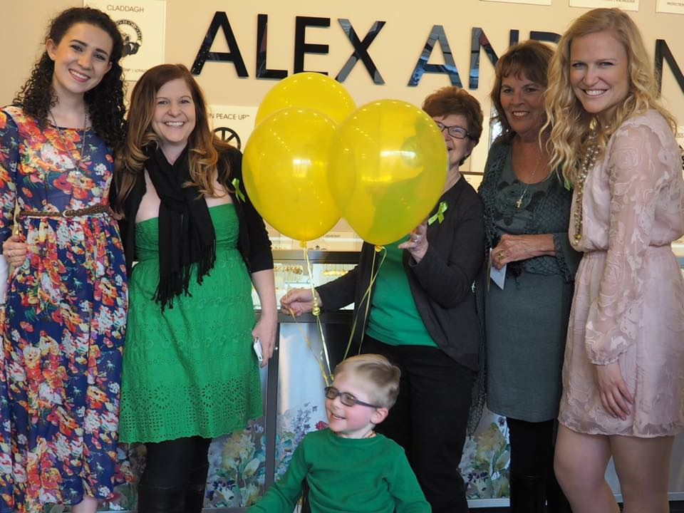Alex And Ani 20 store event held on March 25, 2015 National CP Awareness Day