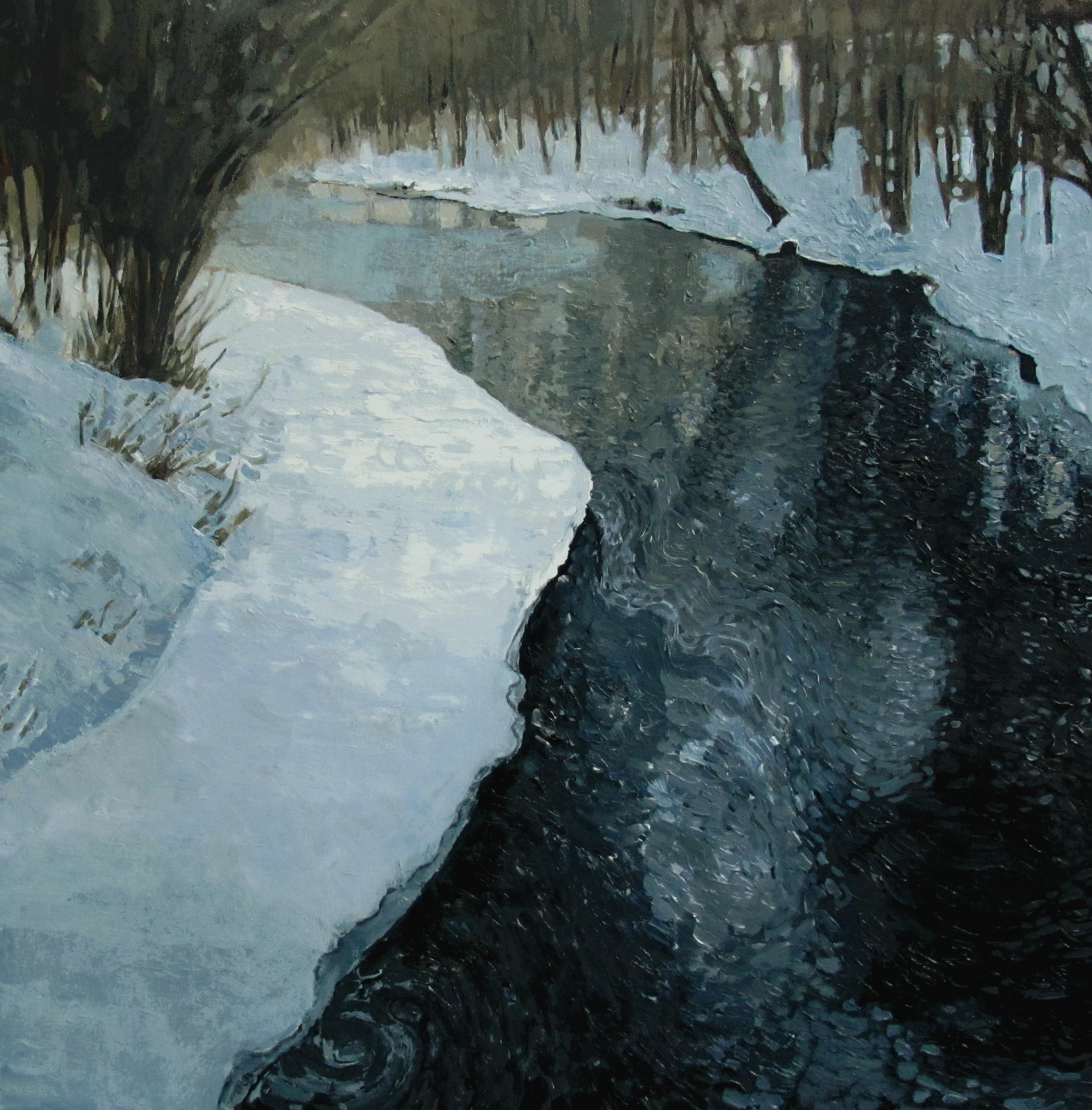 The Don River in winter