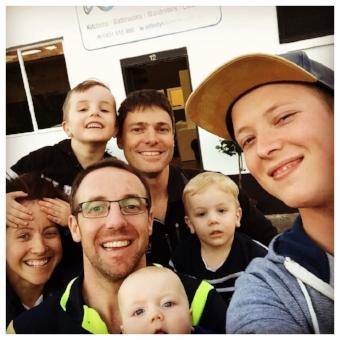 The IKJ Team...plus a few little helpers!
