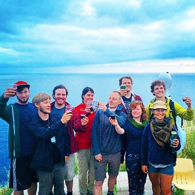 Day 41: cheers to the best crew ever! #walktofisterra #cellist #journey #caminodesantiago #complete #spiritual #pilgrimage #cello #documentary #teamwork #vino #thatsawrap