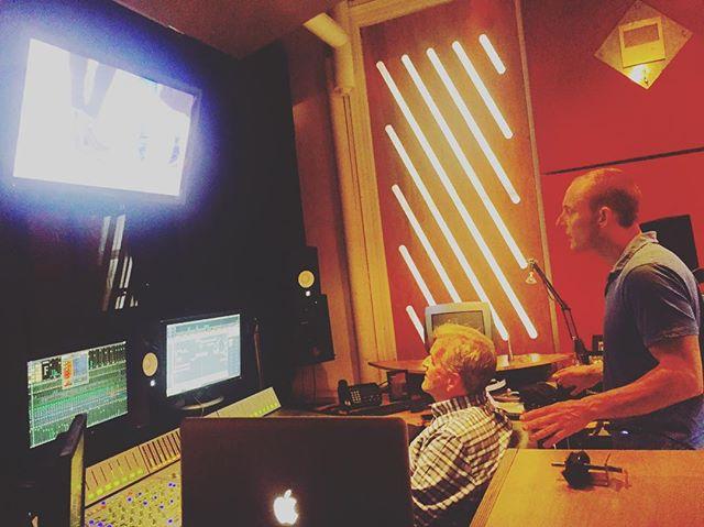 Director Tristan Cook and Sound Designer Serge Ossorguine in full #postproduction mode @nitrousltd  #viff2016 #mustseeBC #score #caminodesantiago #director #soundmixing #independent #film
