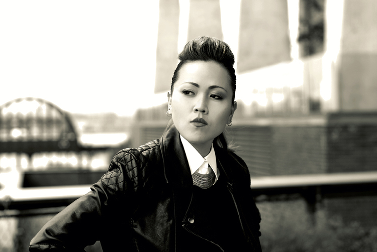 Rapper and lyricist Heesun Lee on New York City's Highline. Credits TBA  © wendy whitesell 2013