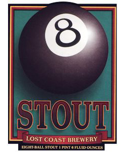 8 Ball Stout    (ABV 5.8%)    not for the faint hearted! this stout rewards the palate with robust flavours of raosted malts (malts are roasted like coffee beans) and heavy hops. a creamy smooth surprise.
