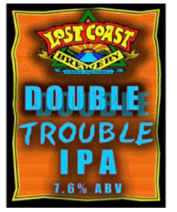 Double Trouble IPA    (ABV 8.5%)    hazy amber in colour with a creamy white head. the aroma is floral, citrusy hops. when you taste it, a nice malt backbone is there to balance all the citrusy hops, the finish is pleasantly bitter.