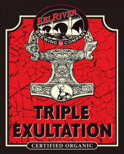 Triple Exultation    (ABV 9.7%)    traditionally, old ales are an english style of dark, rich and sweet ale, typically with flavours of soft currant fruit and blackstrap molasses. while old ales typically have ibus (bitterness) of 30-65, this beer has its own spin on the style by adding extra hops to ramp up the ibus to 80!