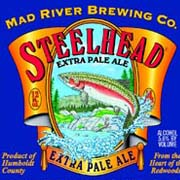 Steelhead Extra Pale Ale    (ABV 5.6%)    A bright golden hued ale of medium body with a spicy floral hop character and very mild bitterness. Mad River's flagship brand! 2008 and 2012 Gold Medal and 2010 & 2013 Silver Medal winner at the Great American Beer Festival in the Golden and Blonde Ale category.