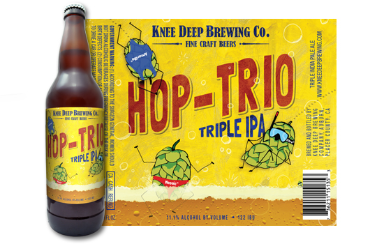 Hop-Trio/Hoparillo Triple IPA    (ABV 11.1%, IBU 122)    Triple IPA brewed and dry hopped with large amounts of Citra, Mosaic and Amarillo hops that delivers exploding tropical fruit and citrus aromas and flavor. Intense hop aromas that are sure to stimulate your olfactory receptors.
