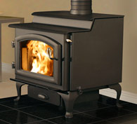 Quadrafire 5700 step top wood stove