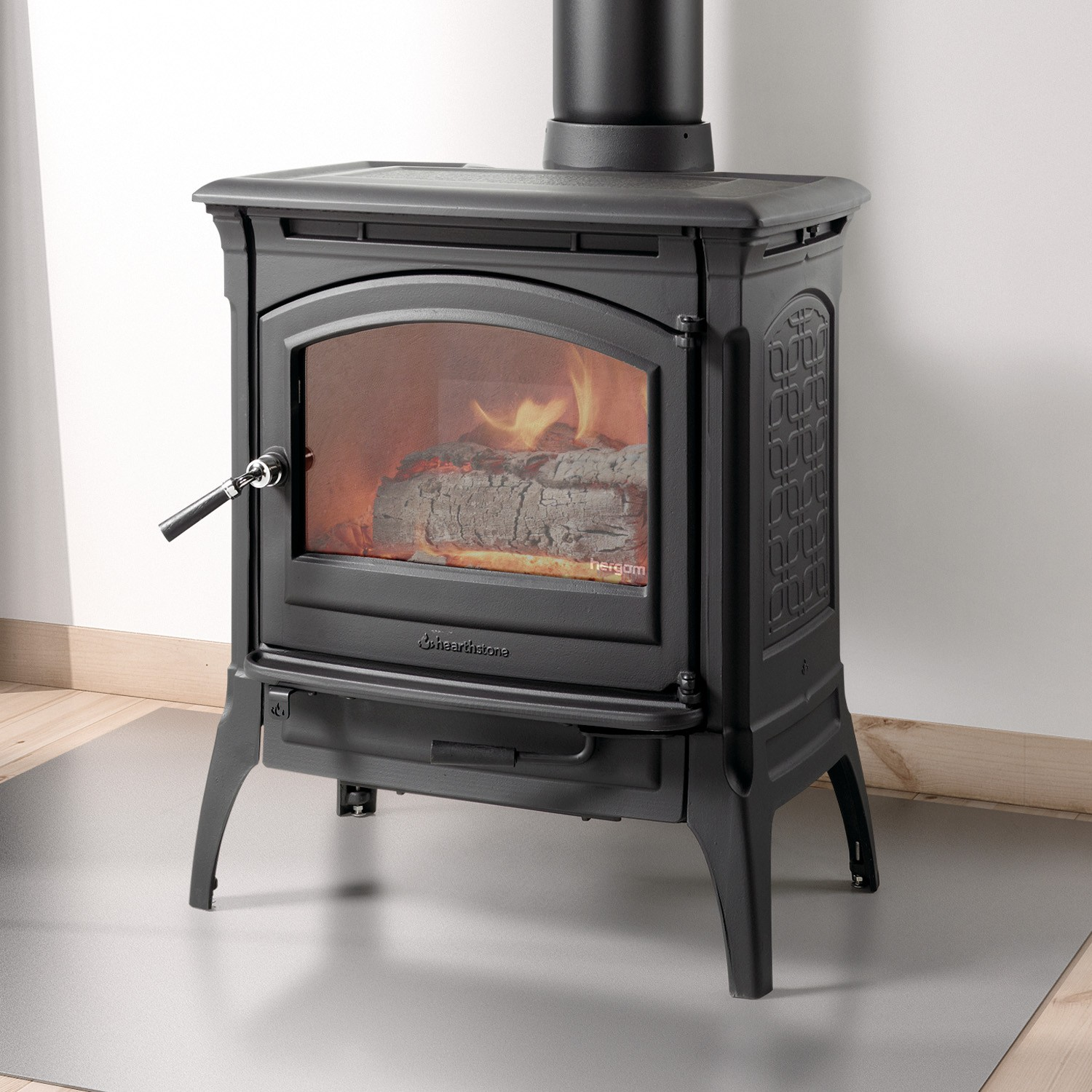 The Hearthstone Craftsbury wood stove is the newest product from the cast-iron line at Hearthstone.   Smaller size competes with other popular brands at an unusually low price.