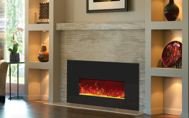 Amanti fireplace inserts.  3 sizes.  Different media included to change with your mood.  A must see!