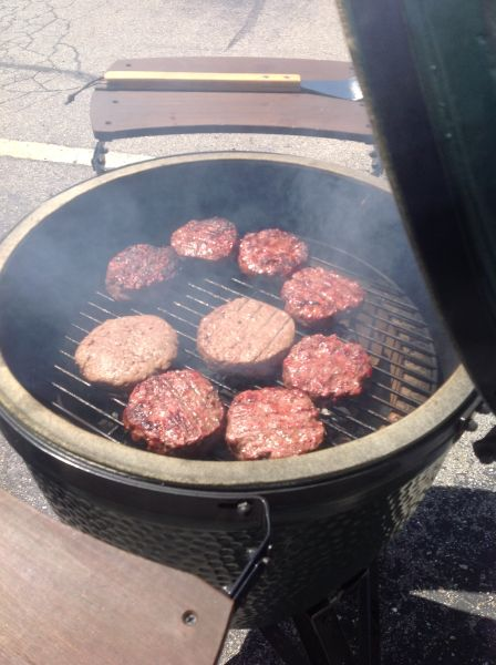 burgers on  the BGE