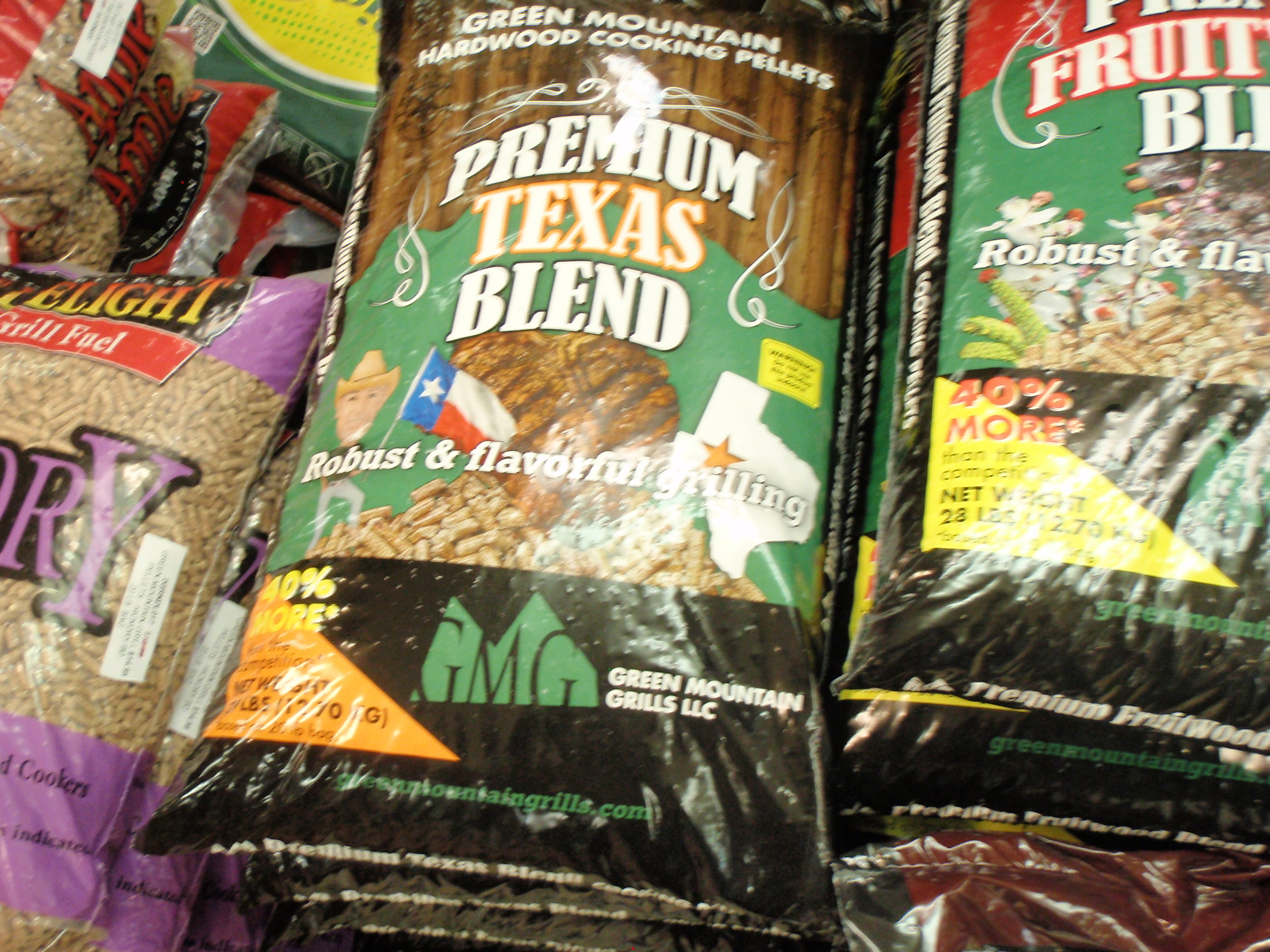 We stock a variety of pellet cooking fuel.  Suit your cooking to a T!
