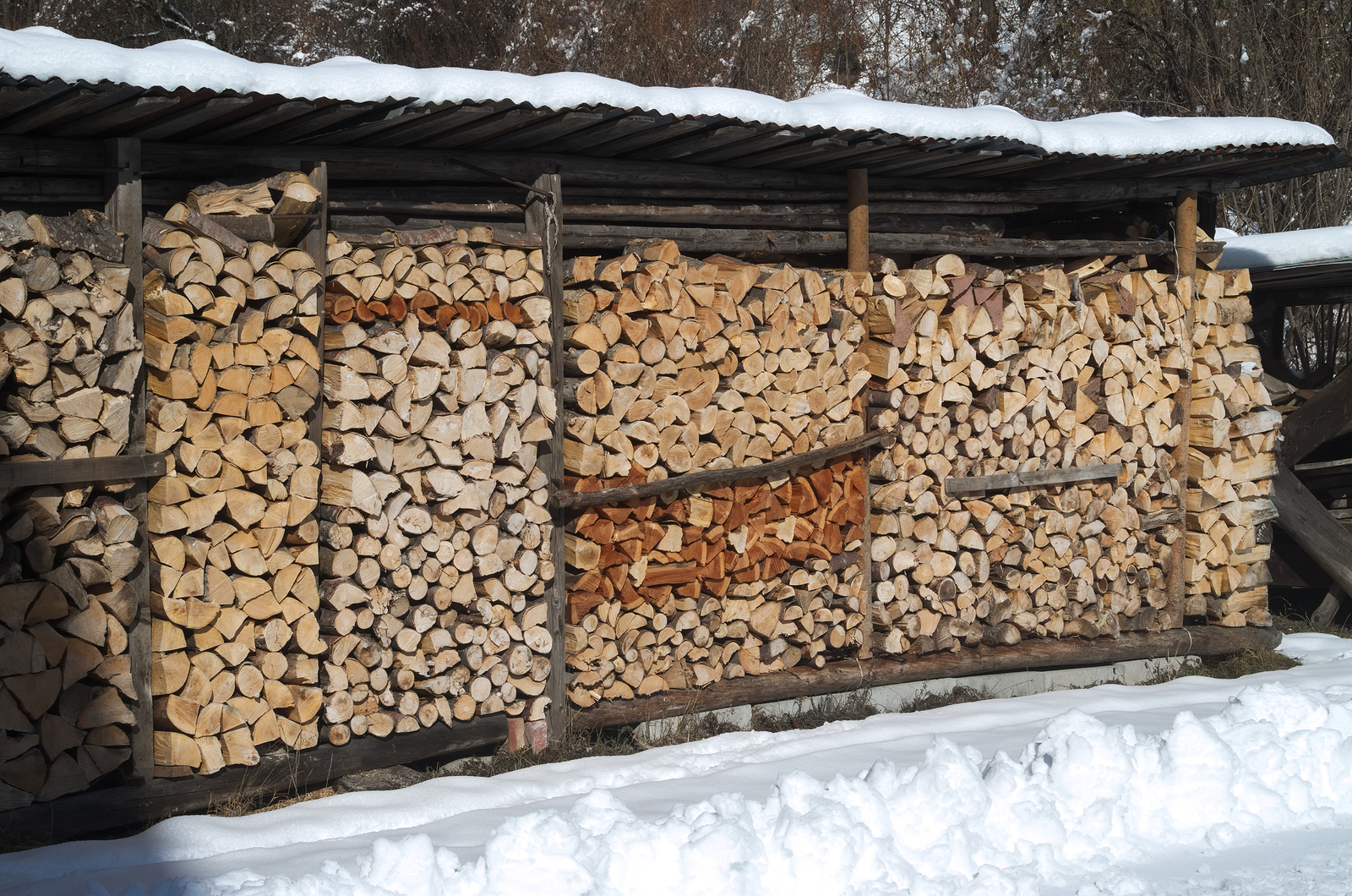 Old-timers and savvy wood burners often separate their wood by specie & dryness so they have the most heat potent fuel saved for harshest weather!