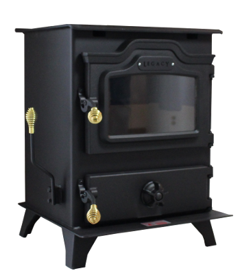 The Mark III Coal Stove is sophisticated, yet powerful enough to heat most homes. The body is robotically formed and welded from a single piece of ¼-inch steel. A blower system and specially designed baffle circulate heat throughout your home, not up the chimney. Reduce your utility costs even more with an optional stainless steel residential hot water coil.  92,000 BTUs — heats 1,900 to 4,900 square feet, based on climate and home efficiency  Up to 24 hours of burn time from each load of coal  Harman Grate System extends heating by completely burning coal to fine ash