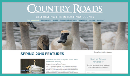 Country Roads Magazine -  http://www.countryroadshastings.ca/