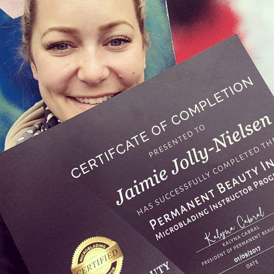 Jaimie trained in Permanent make-up to stay current in her biz, but it quickly ended up being one of her most in-demand services.