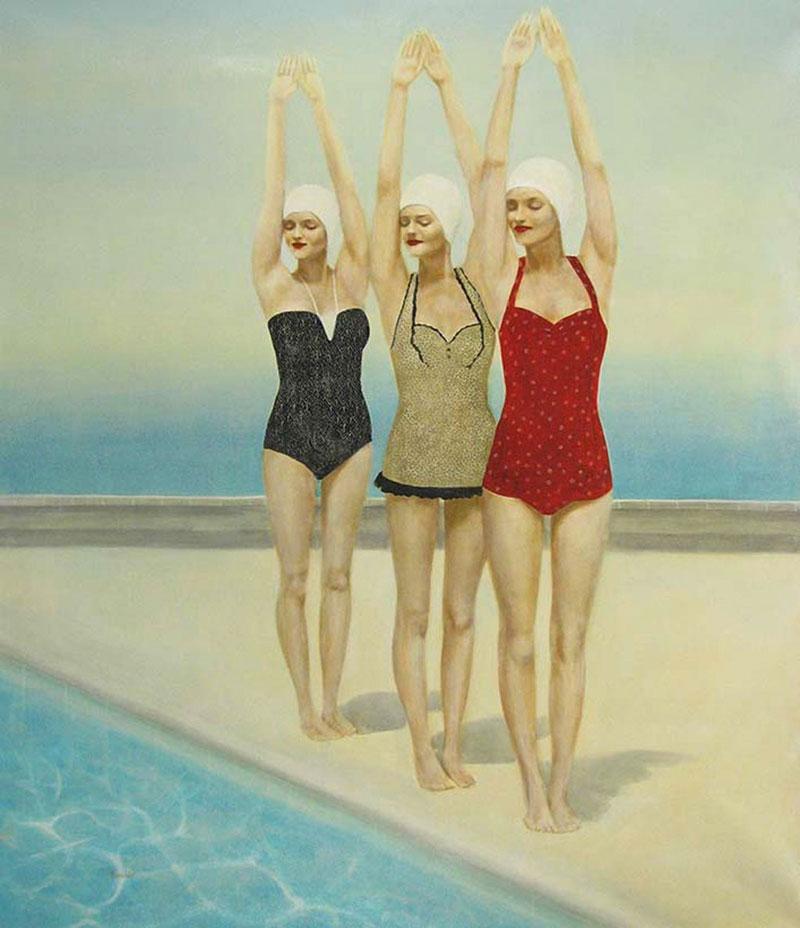 Three Diving Beauties