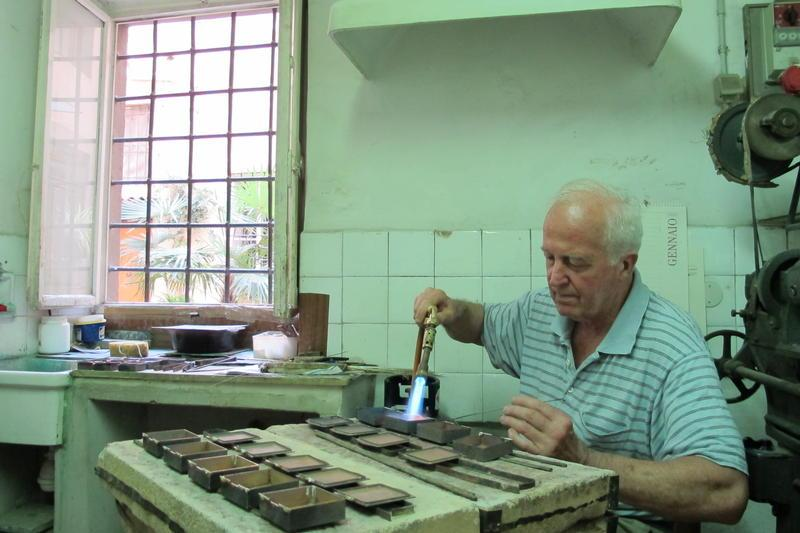 Giuliano's Master Teacher at work, Carlo Cecchi.