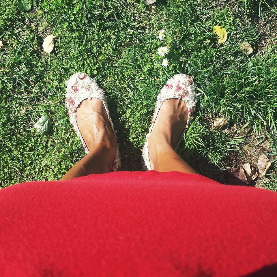Me and my Tieks. The best flats ever- especially since I bike everywhere.Do you have a pair?