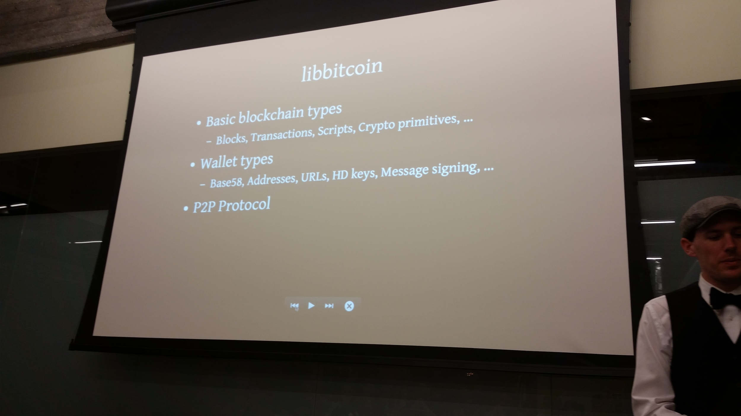 William Swanson, the presenter for Libbitcoin. Amazingly intelligent and super approachable.
