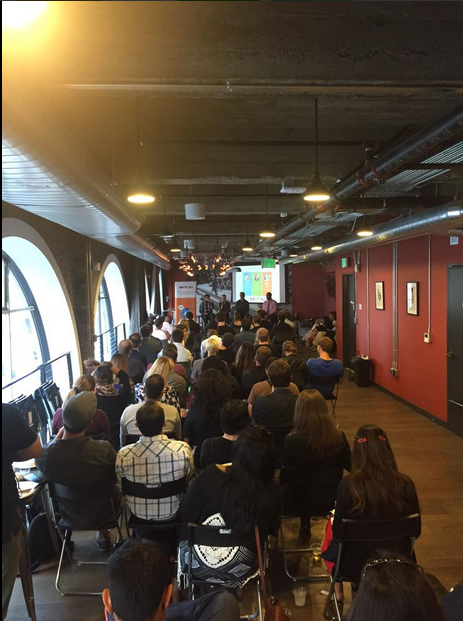 "Packed event for the ""Secrets of Media Seduction; how to attract journalists with your story."" Hosted by Startup PR Innovators and Hotwire PR. Photo credit: @HotwirePRUS"