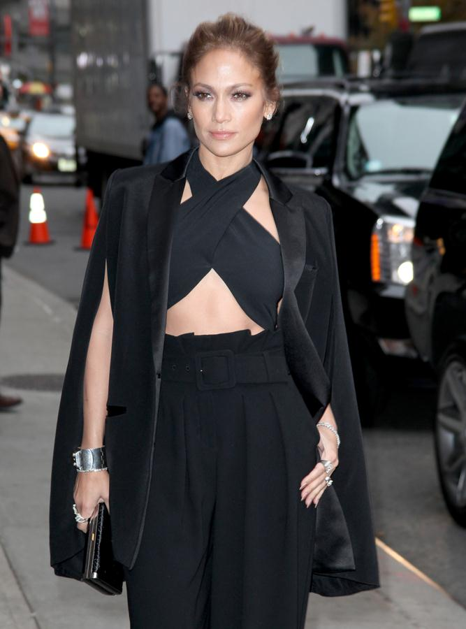 Jennifer Lopez rocked this sexy pants suit during her interview on the Late Night Show. She received some criticism for it not being professional. Mostly known for being an entertainer, she is also a successful businesswoman and owns a clothing line, production company and a host of other ventures.