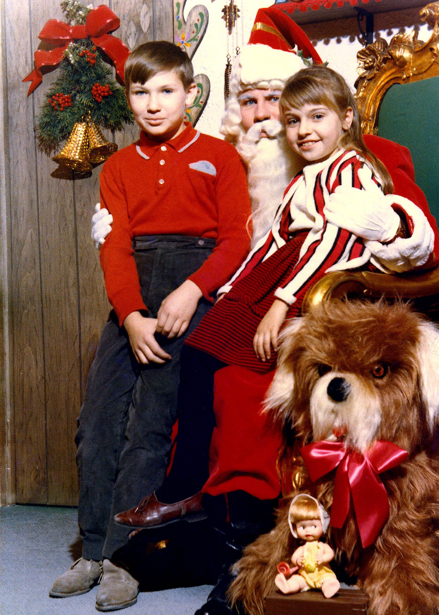 Boy, Girl, and Santa