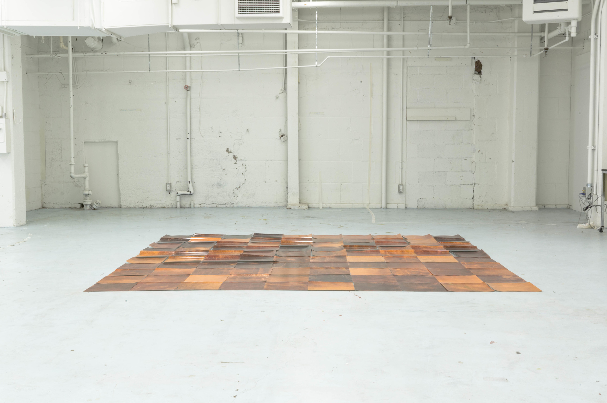 "10x10 Copper Altstadt (After Carl Andre) 2014 120x120x0.08"" C-Prints"