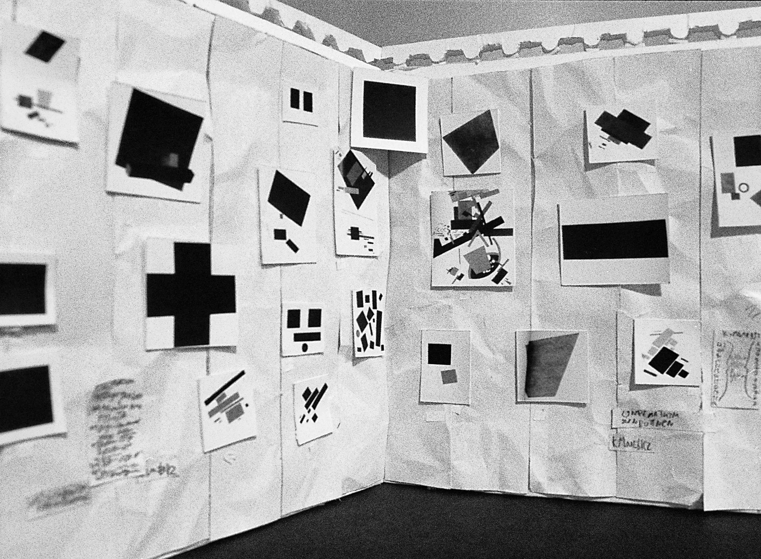 Malevich at the Last Futurist Exhibition, 1915-16