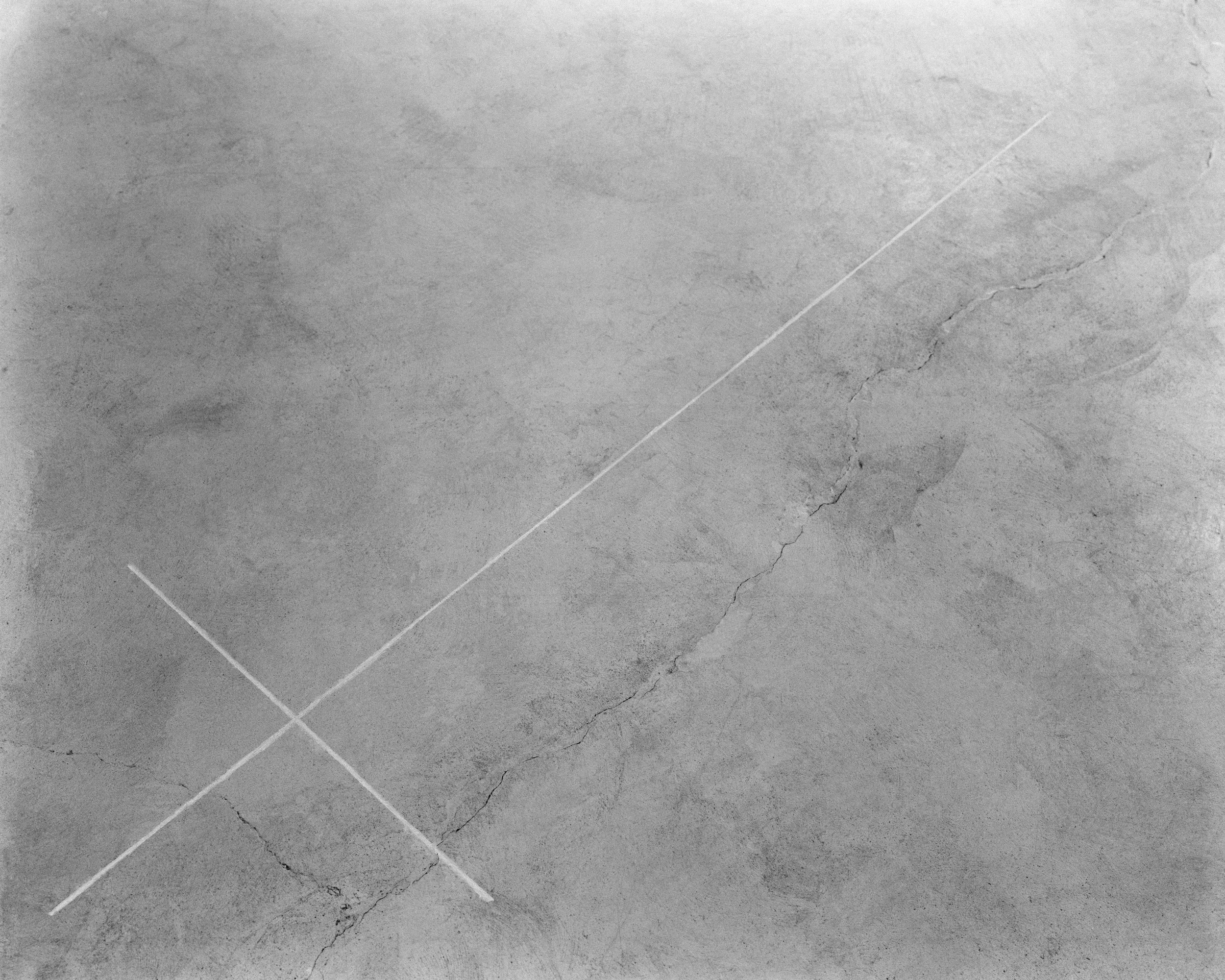Walter De Maria, Desert Cross, El Mirage Dry Lake, 1969