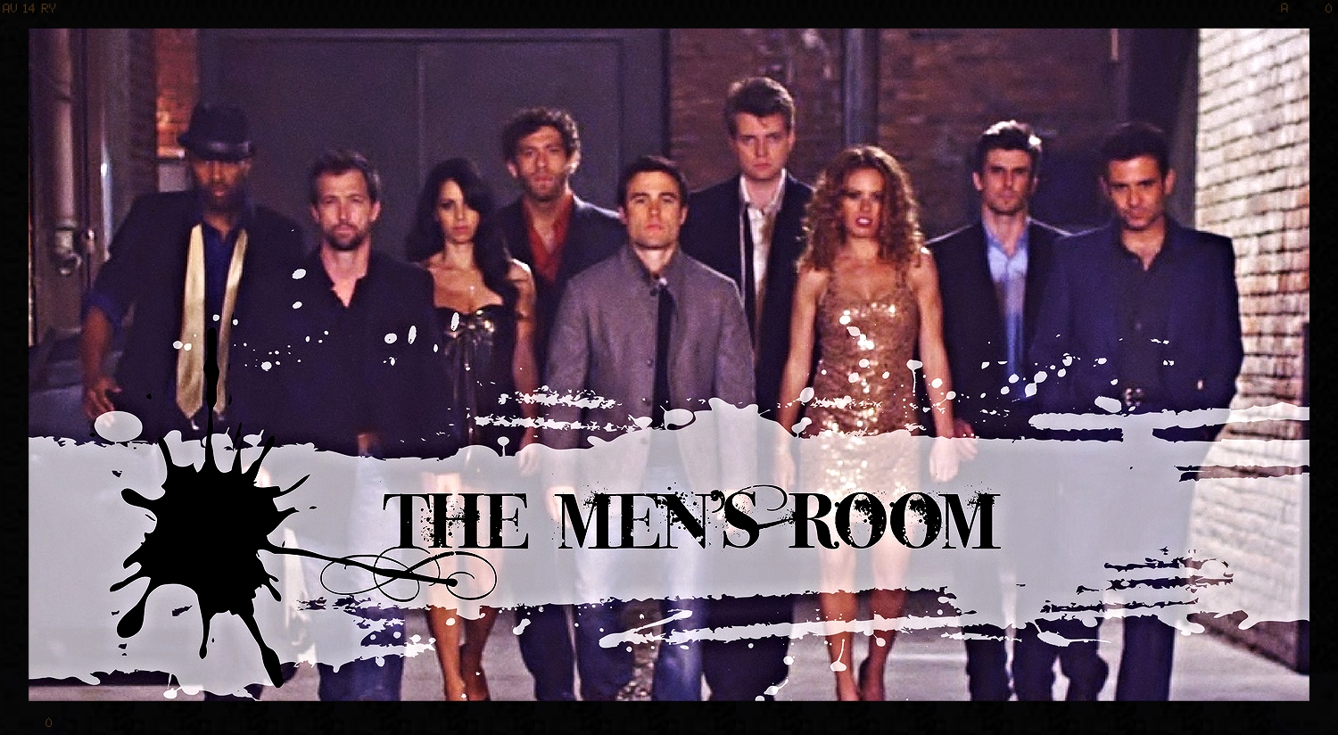 The Cast of The Men's Room  (T'Shaun Barrett, Sitara Falcon, Marta McGonagle, Bruce Wexler, Rob Belushi, Scott Beehner, Jo Newman, Cooper Barnes, Mark Gagliardi)