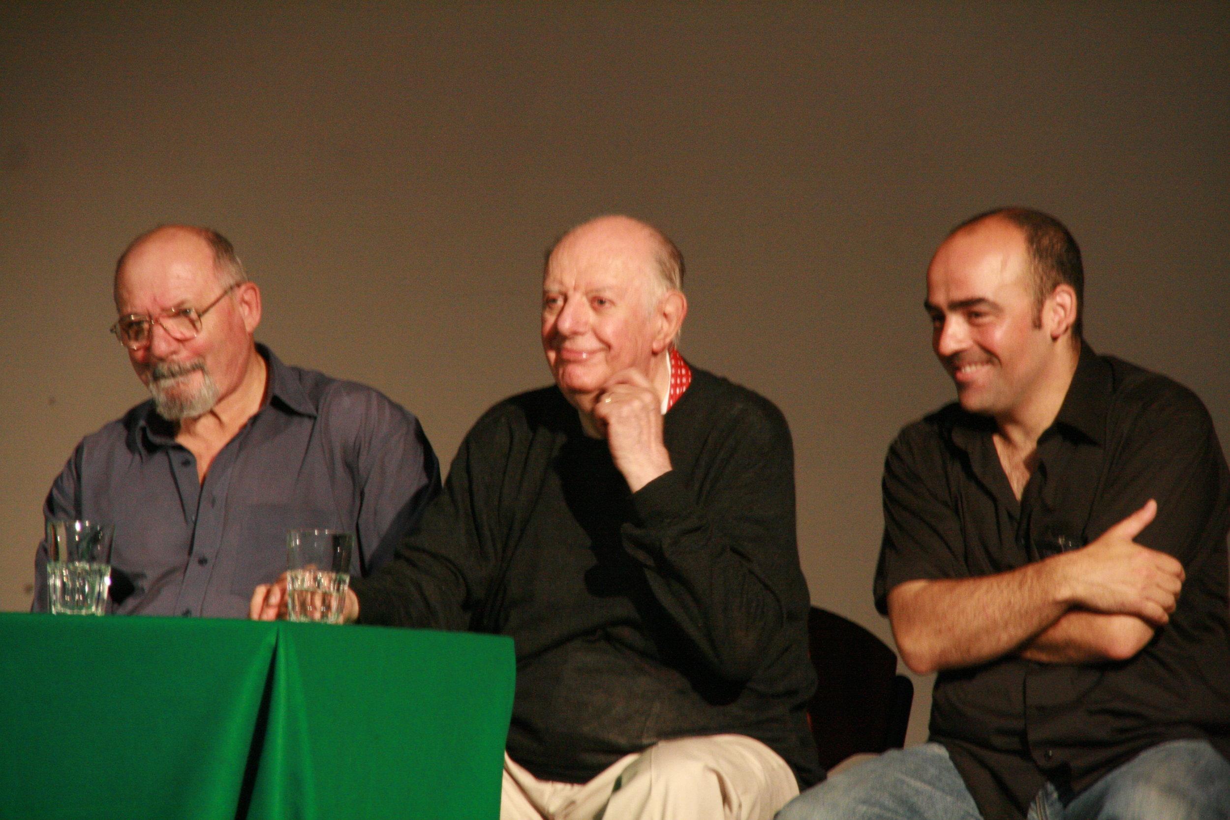 Donato Sartori, Dario Fo and Carlos García Estévez - Padova 2010