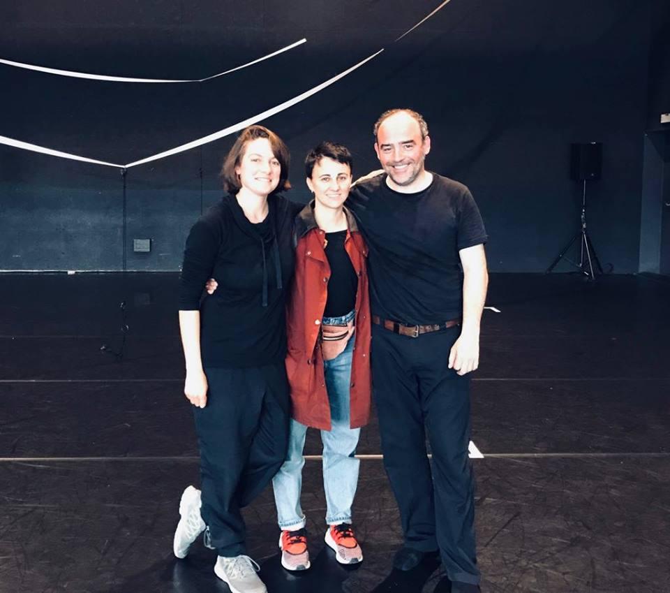 Paige Allerton, Marina Mascarell and Carlos García Estévez. @GRANER (Mercat de les Flors, BCN)