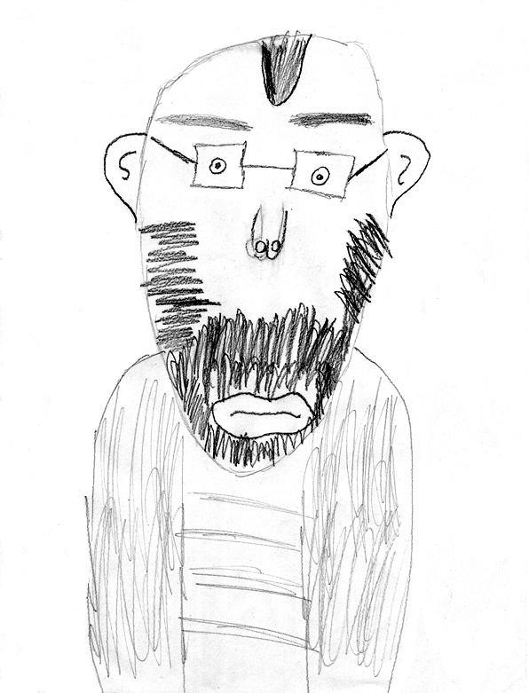 kids drawing of Jim