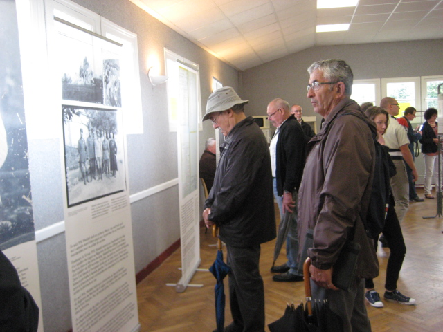 Locals from the Santerre region and visitors learning about James Waddell for the first time