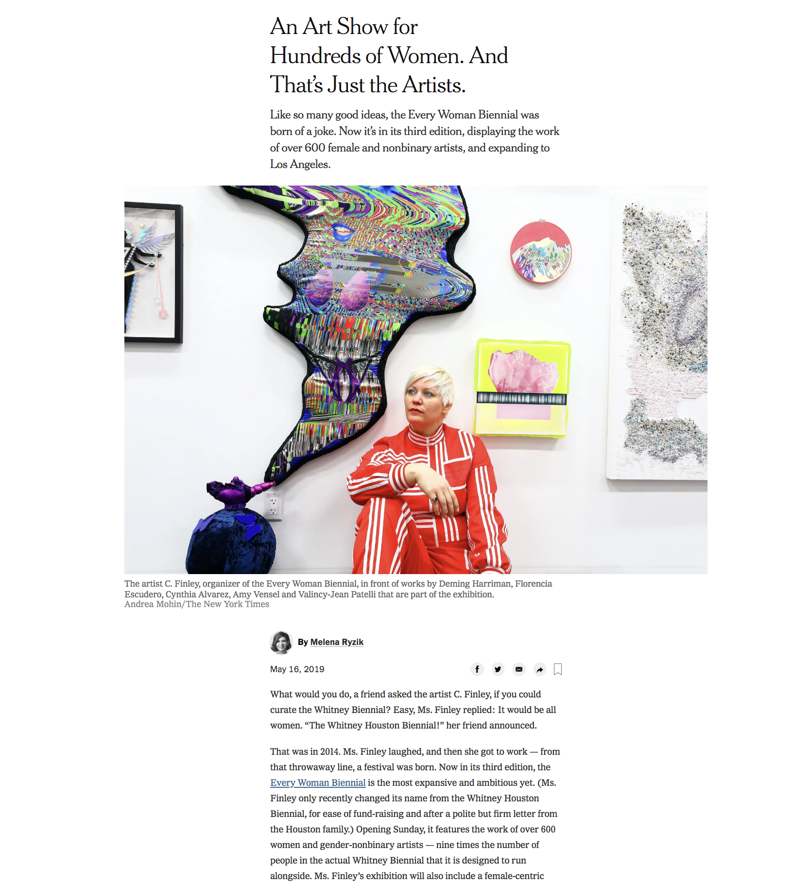 new york times article for Every Woman Biennial.png