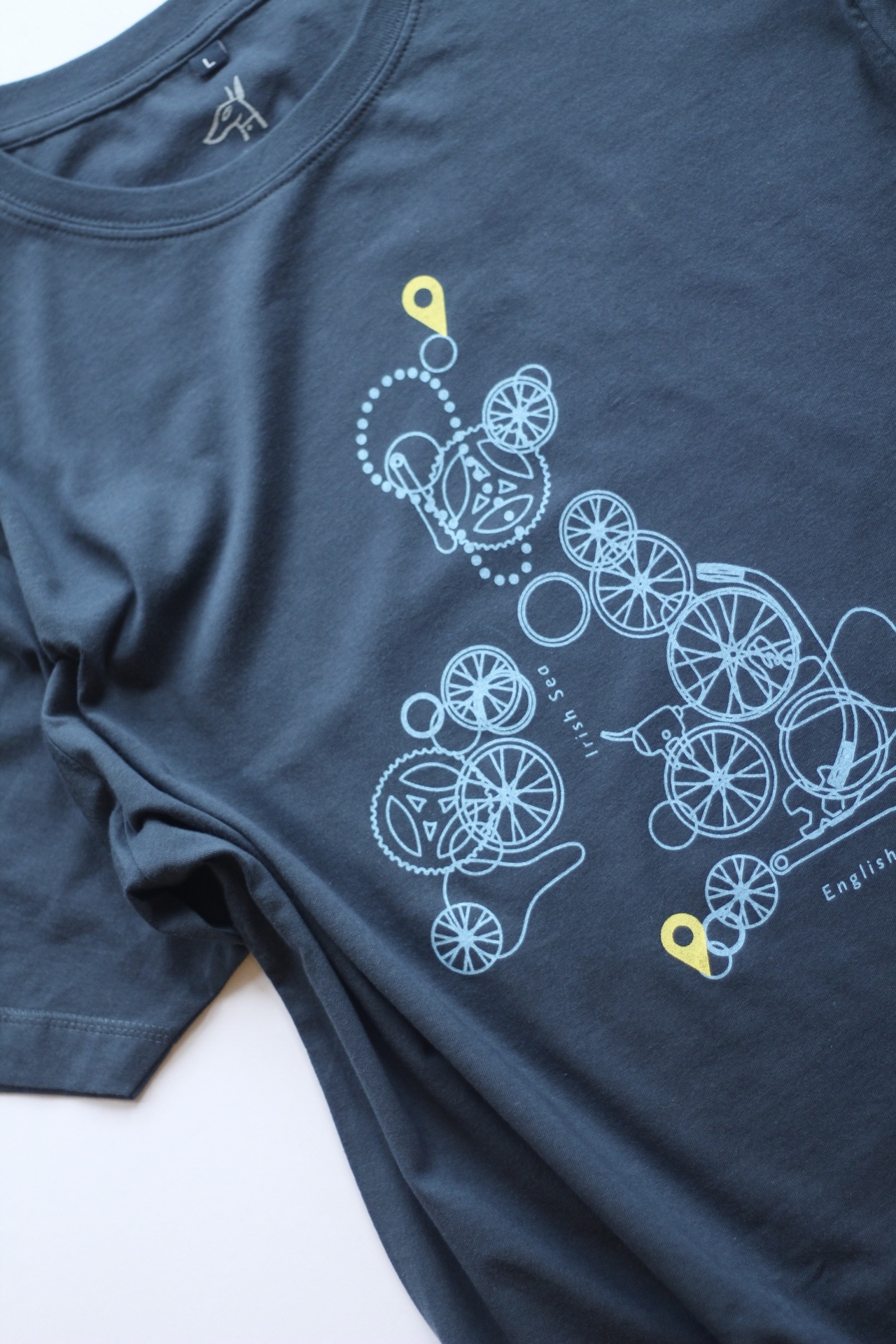 Our super- popular Cycle map Tee, with one or two location spots- this awesome dad's biked from Lands End to John O'Groats.
