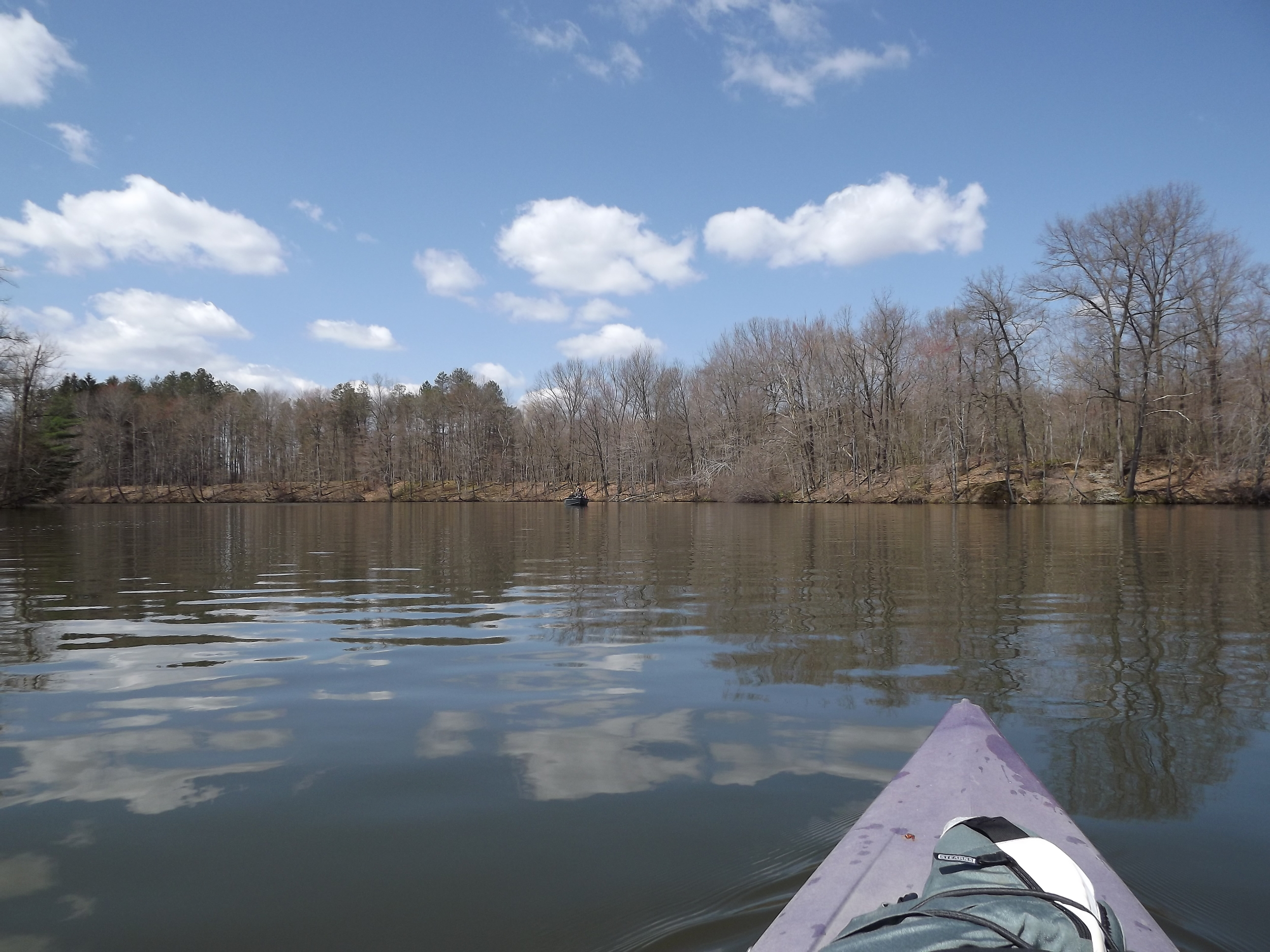 Kayaking one of the Coves