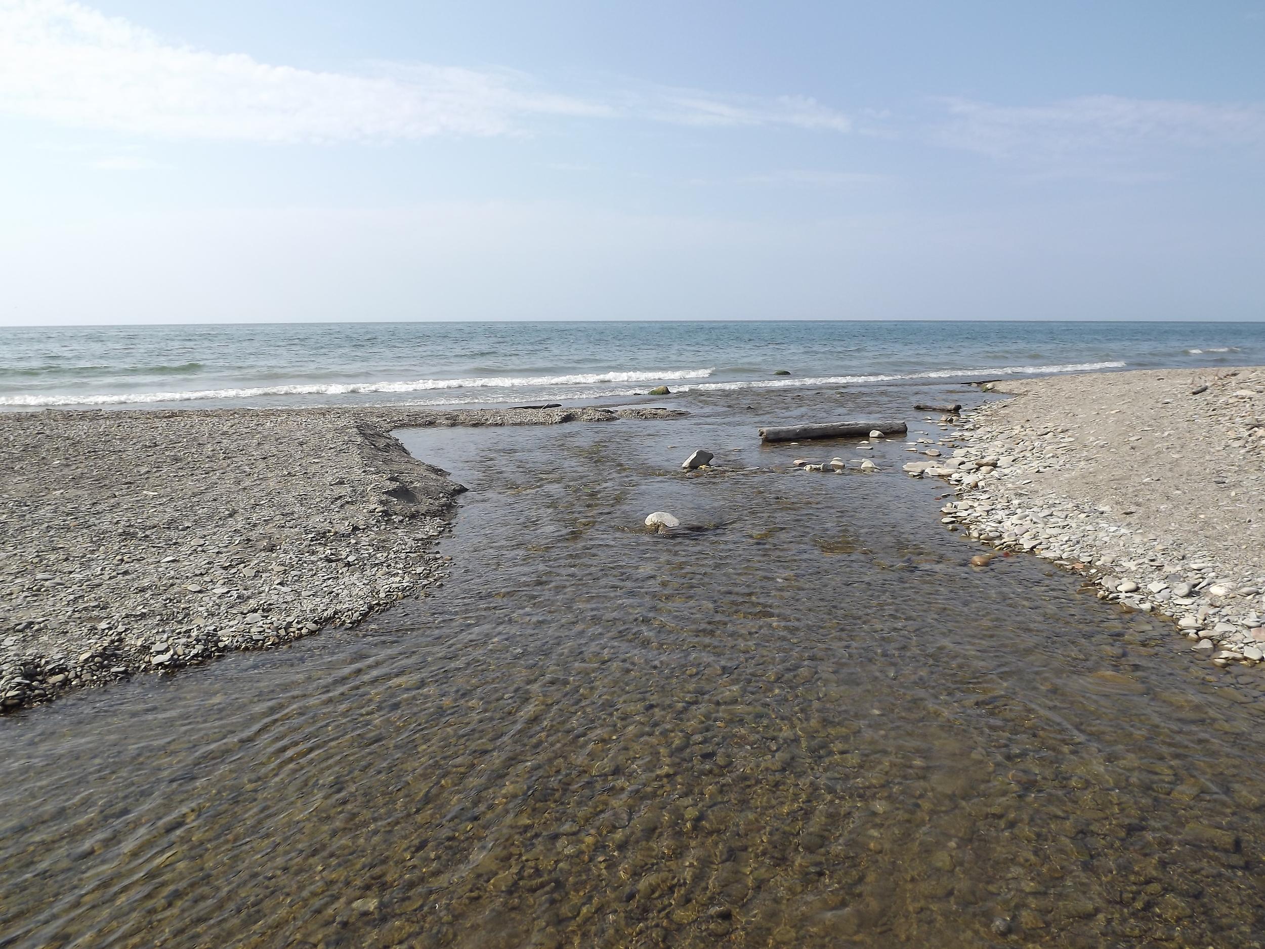 The Mouth of Chautauqua Creek on Lake Erie