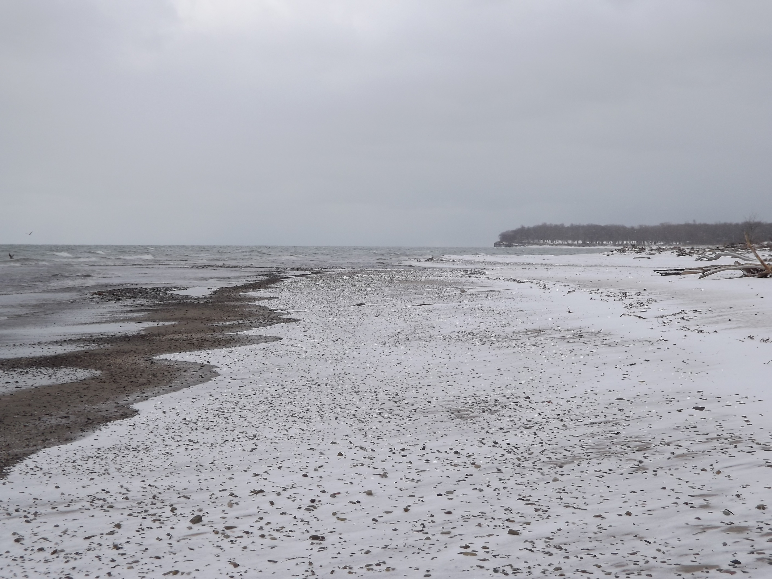 Mouth of Canadaway Creek on Lake Erie with Point Gratiot in Background