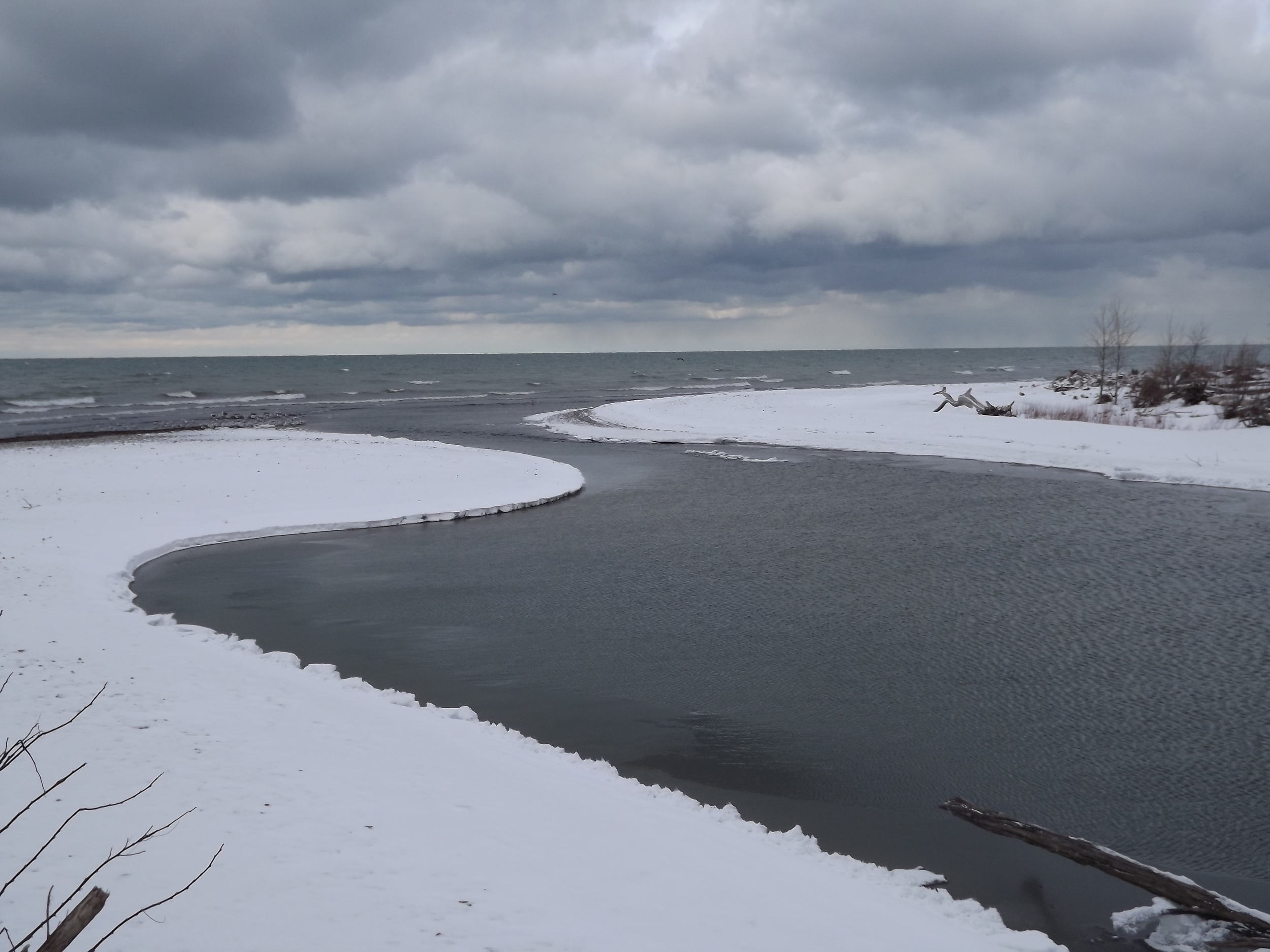Mouth of Canadaway Creek on Lake Erie