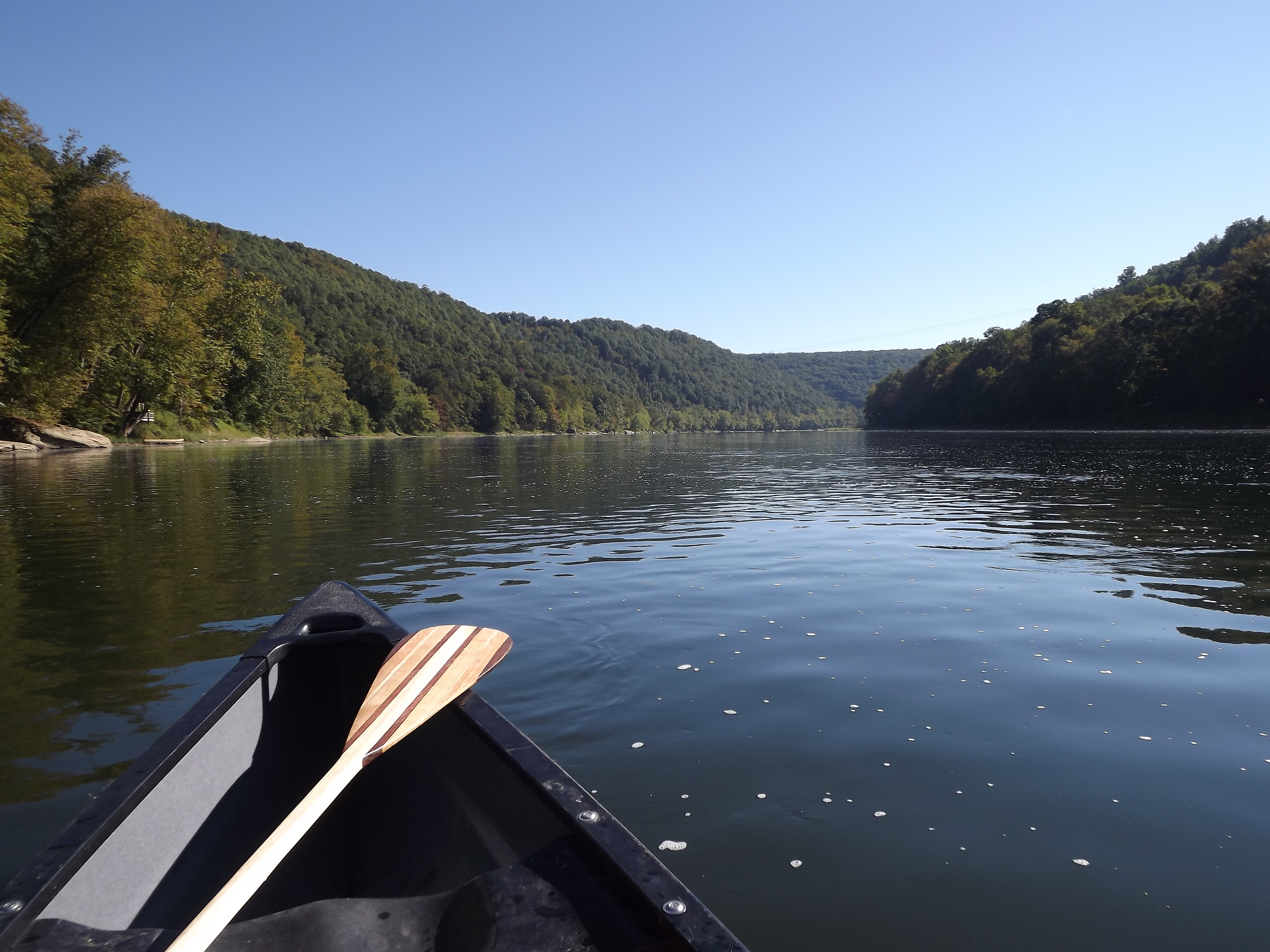 Allegheny River just after launching in Kennerdell
