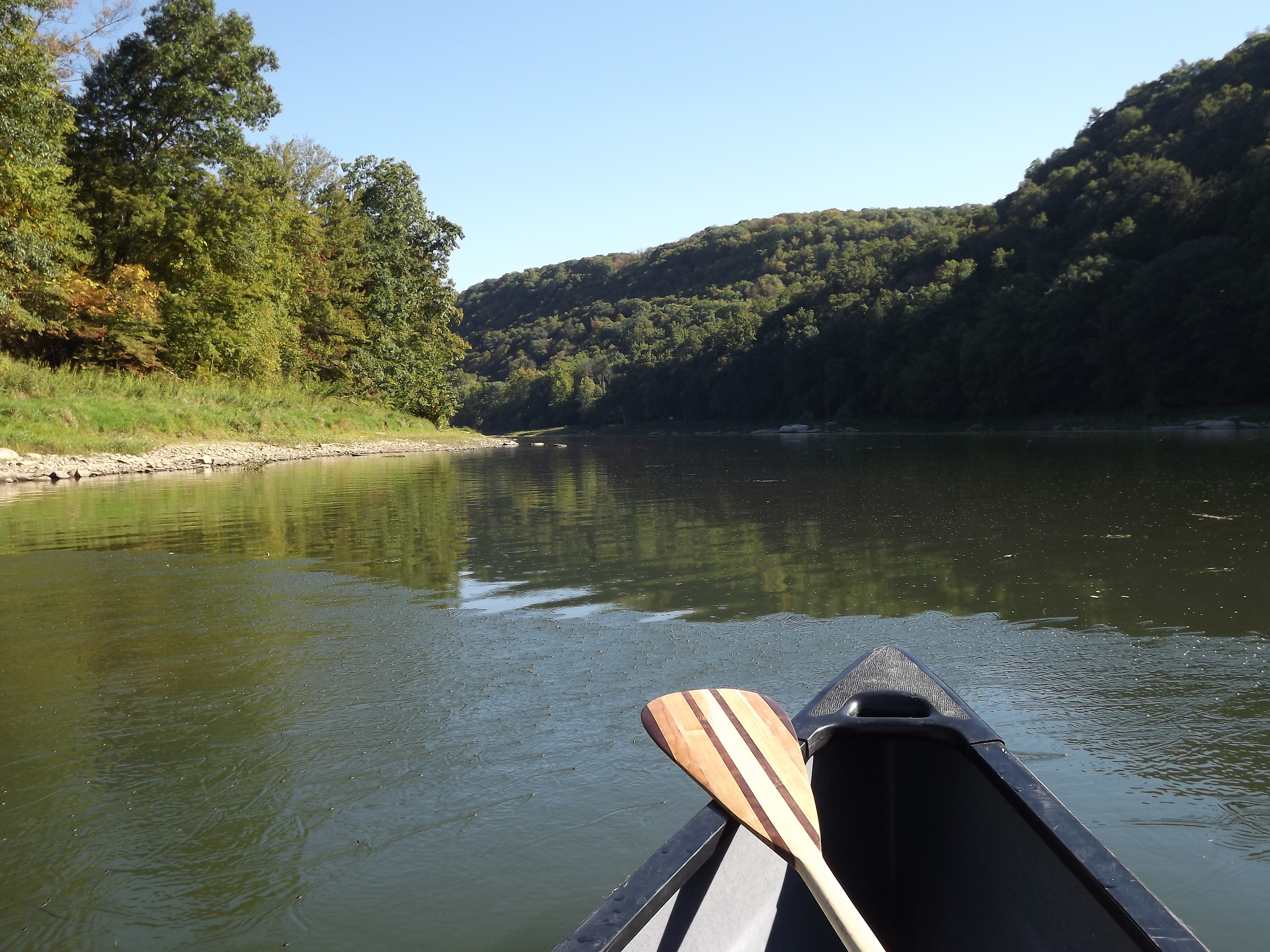 Allegheny River - Last bend before Take Out in Emlenton
