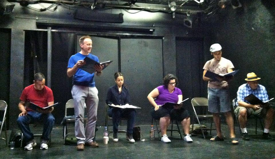 Rehearsal for Chavez Ravine by Culture Clash, directed by Andy Pang, 2012.